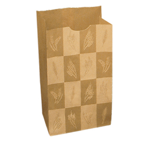 "Bakery Bag Dubl-Wax 6# Kraft 13""X13""X6"" 500/cs"