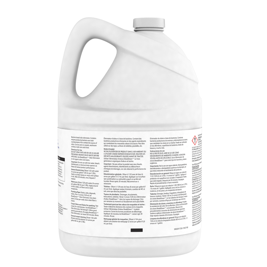 Enzyme Breakdown Odor Eliminator Gallon 4/cs