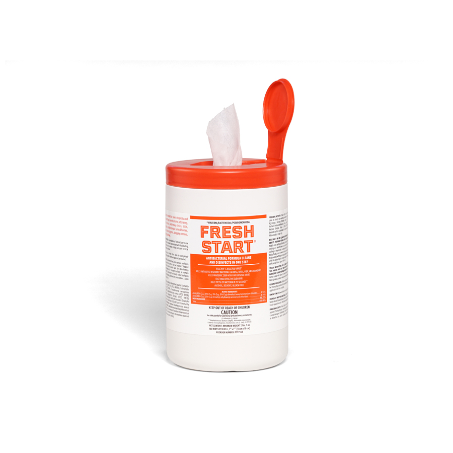 Fresh Start Disinfecting Wipes 160/can 6/cs