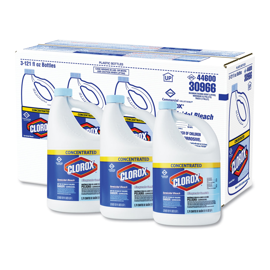 Bleach Liquid Germicidal Clorox 8.25% 121oz 3/cs