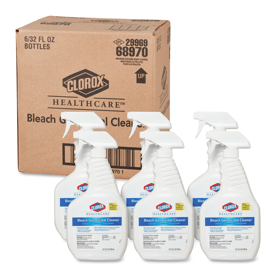 Clorox Bleach Germicidal Disinf Cleaner 32oz 6/cs
