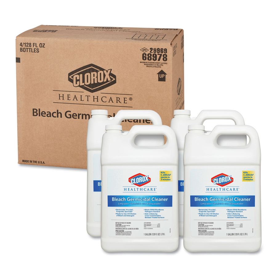 Clorox Bleach Germicidal Disinf Clnr Gallon 4/cs