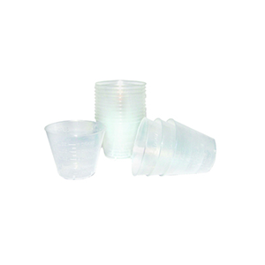 Plastic Medicine Cup 1oz Clear Graduated 5000/cs