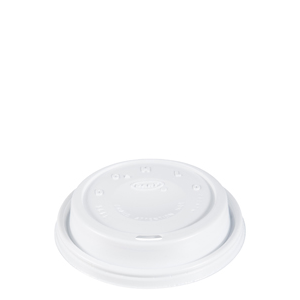 Dome Lid Cappuccino White For 16oz 1000/cs