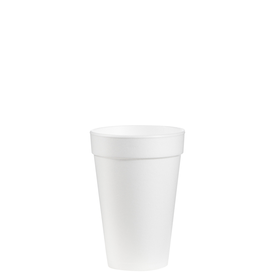 Foam Cup 16oz White 1000/cs