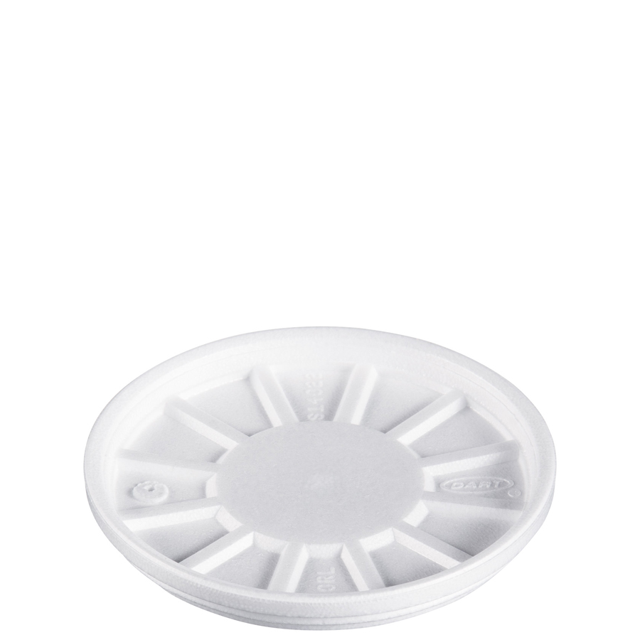 Foam Cup Lid Vented White For 20oz 500/cs