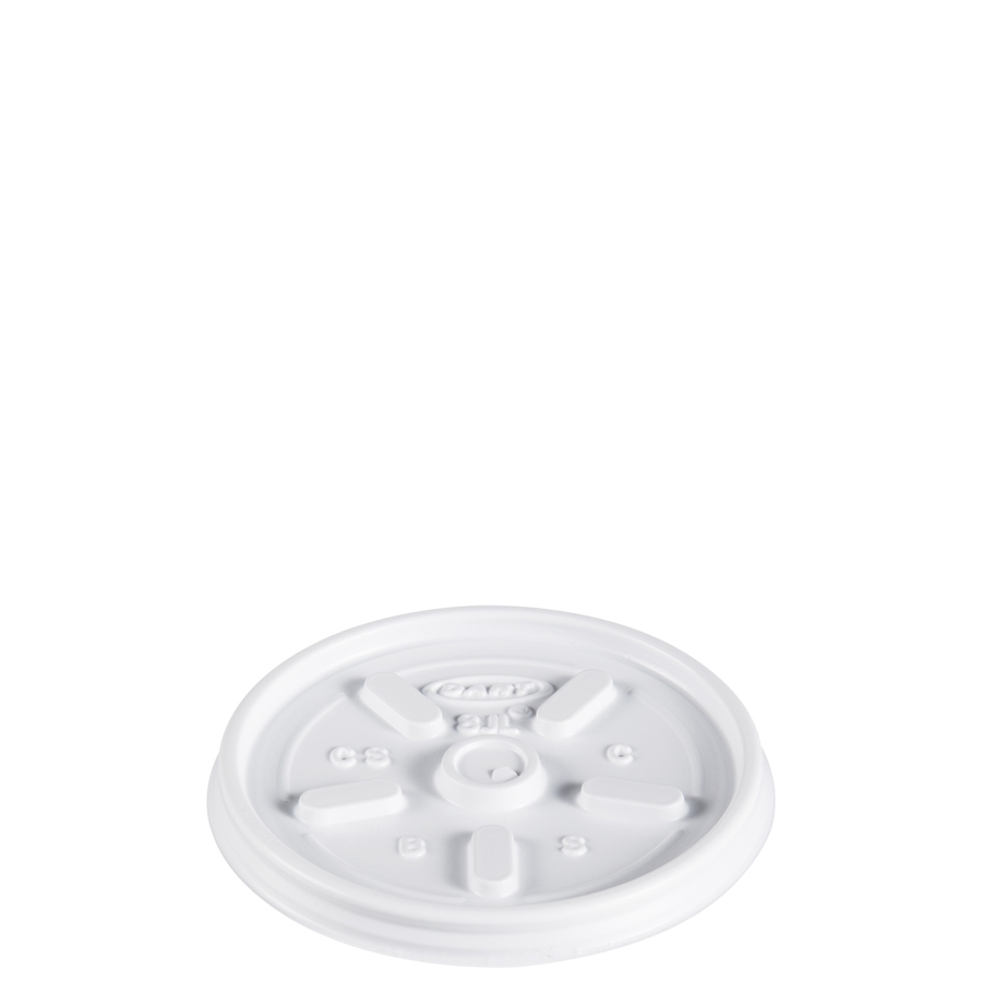 Foam Cup Lid Vented For 8oz White 1000/cs