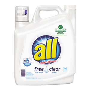All Free & Clear Laundry Detergent HE 162oz 2/cs