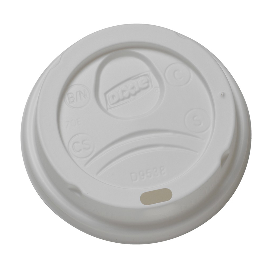 Dome Lid White For 8oz Perfectouch Cup 1000/cs