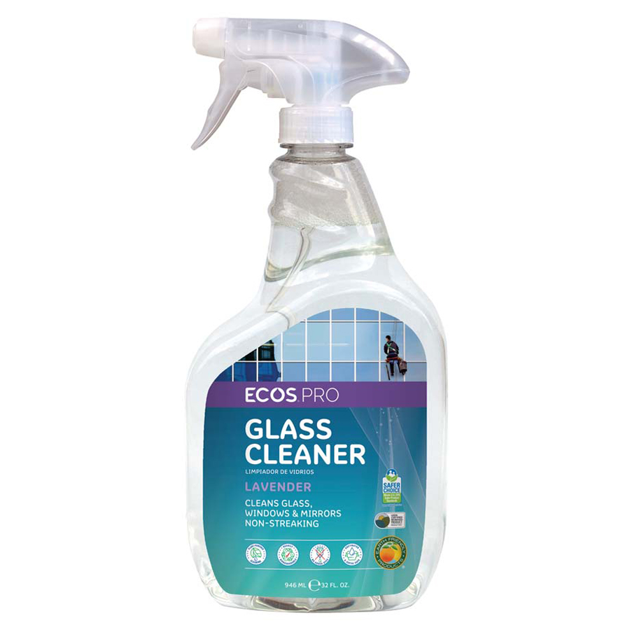 Earth Friendly Glass Clnr Lavender 32oz 6/cs