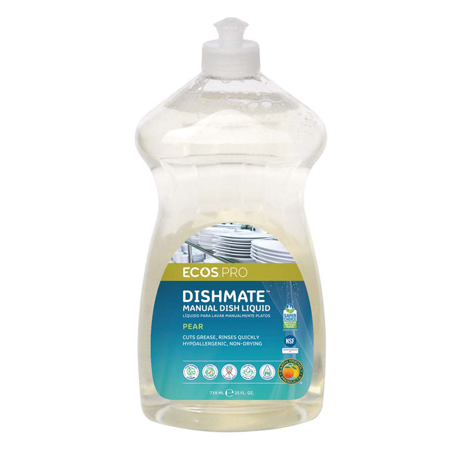 Earth Friendly Dish Soap Pear 25oz 6/cs