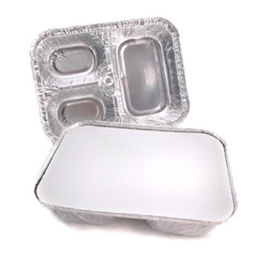 Aluminum Tray 3-Section With Board Cover 250/cs