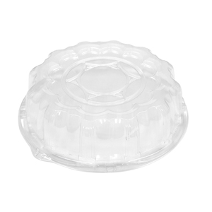 """Plastic Dome Lid For 12"""" Tray Clear 50/cs"""