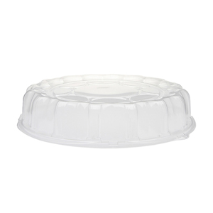 """Plastic Dome Lid For 16"""" Tray Clear 50/cs"""