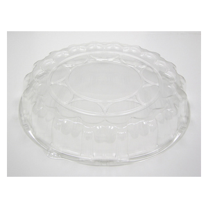 """Plastic Dome Lid For 18""""  Tray Clear 50/cs"""