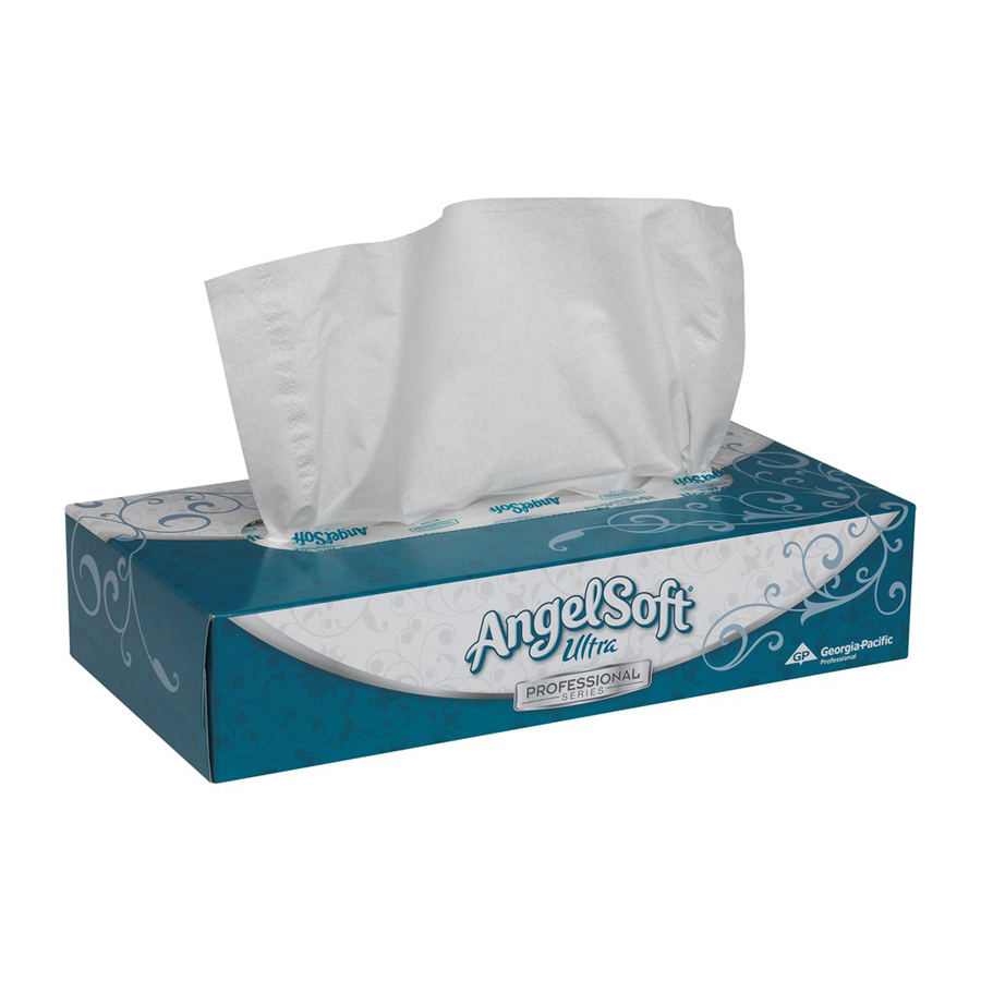 Facial Tissue Angel Soft Ultra 2-Ply 100/bx 30/cs