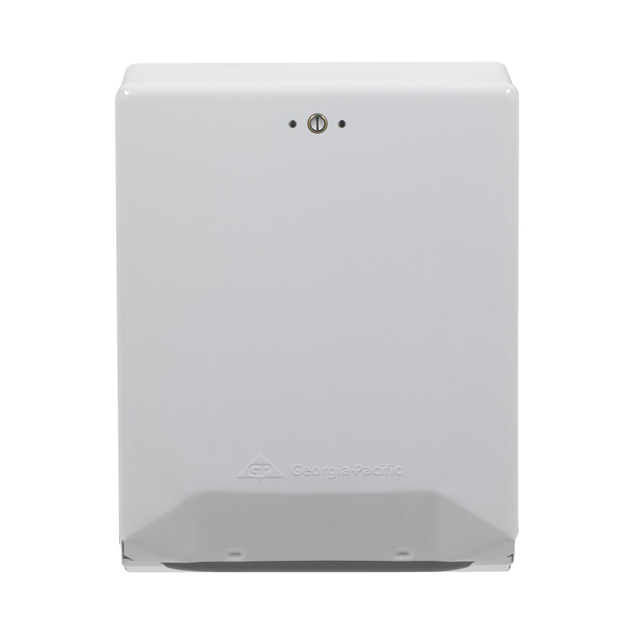 C-Fold Multifold Towel Dispenser White Metal