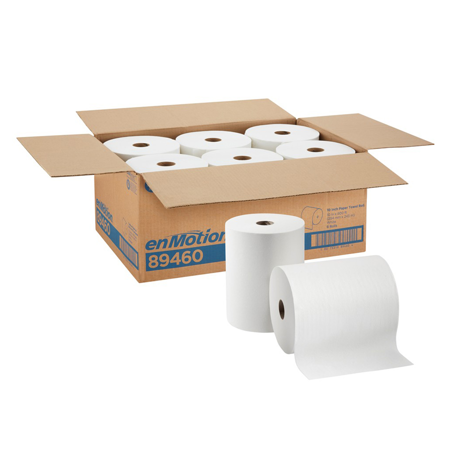 "Roll Towel White Enmotion 10""X800' 6/cs"