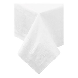 """Poly Lined Tablecover White 54""""X108"""" 25/cs"""