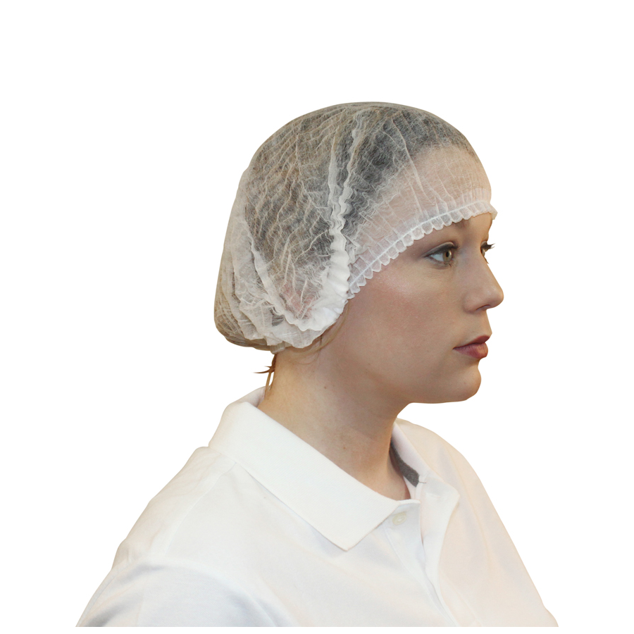 "Bouffant Cap Latex Free 24"" Polypro Wht 1000/cs"