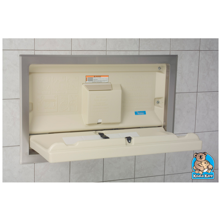 Changing Table Horizon Recessed Cream/Stainless