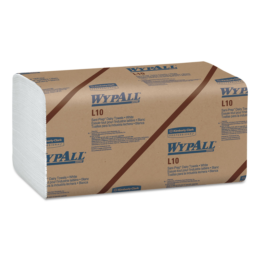 "Dairy Towel Wypall L10 White 9""X10"" 2400/cs"