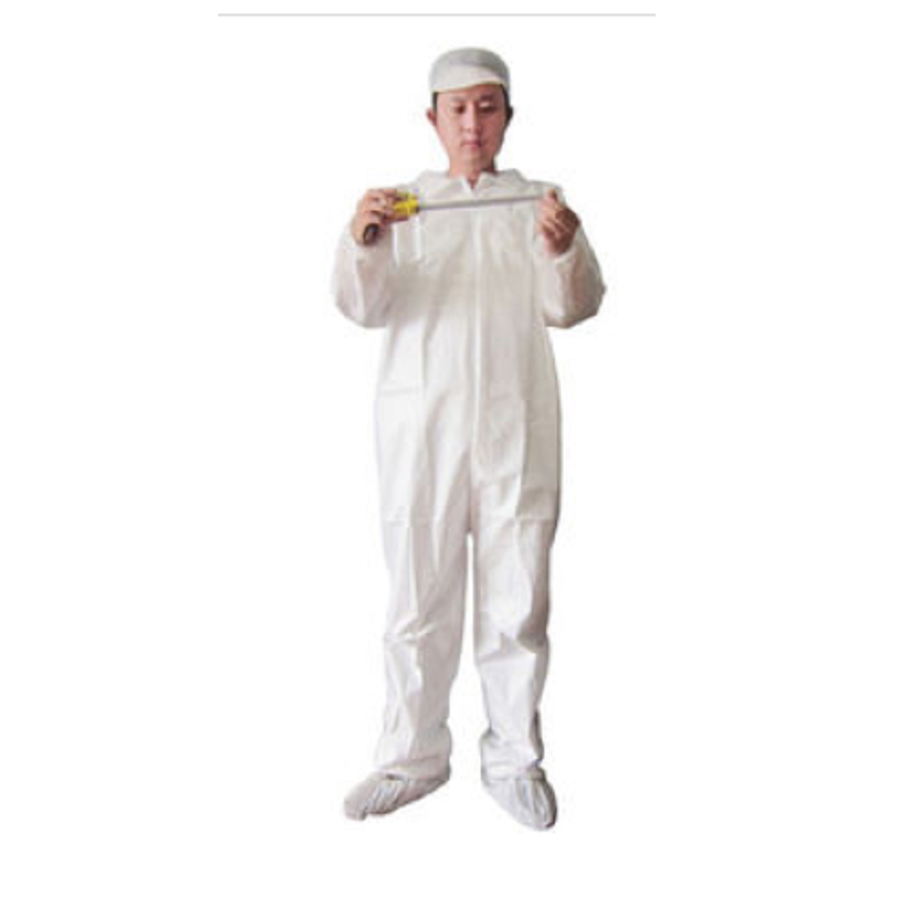 Coverall White W/Elastic Wrists/Ankles XL 25/cs