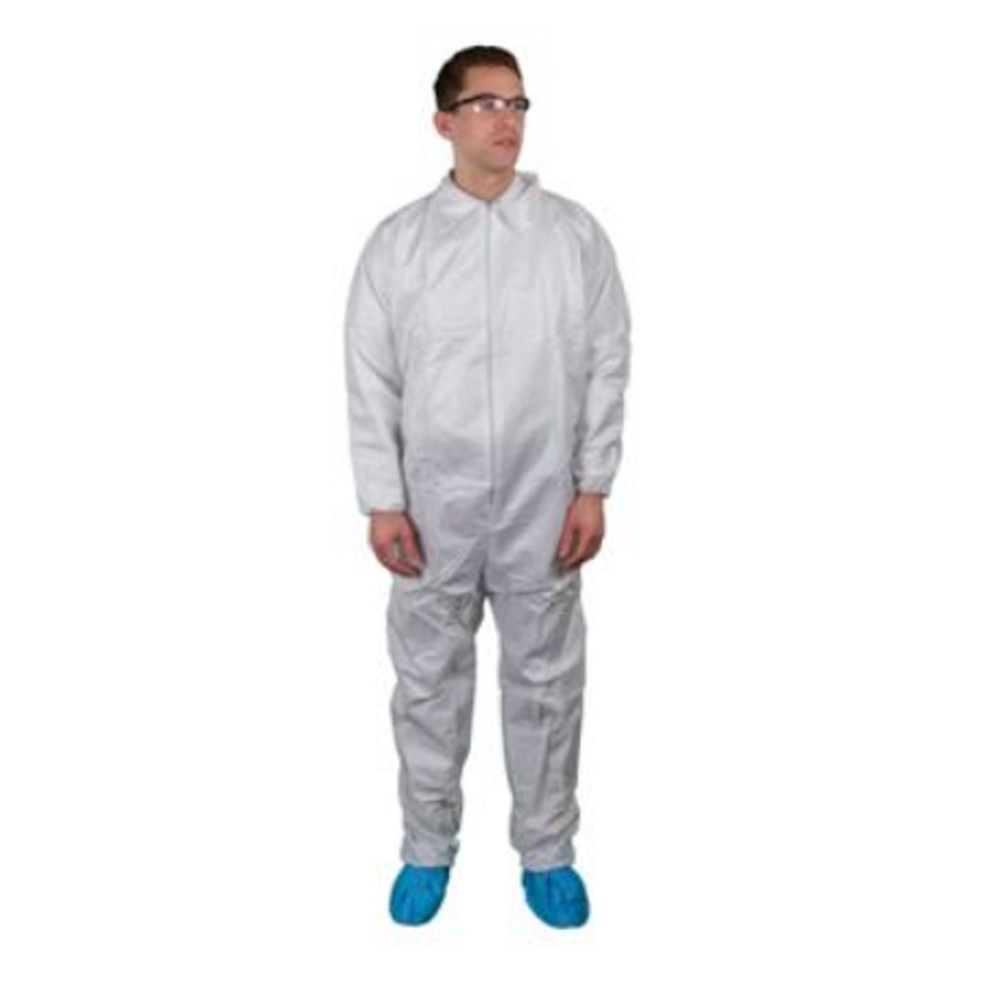 Coverall Elastic Wrists/ Ankles Zipper MED 25/cs