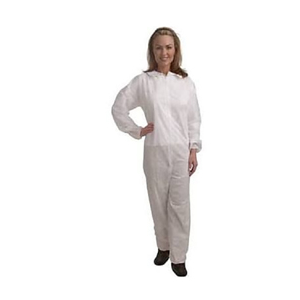 Coverall White W/Elastic Wrists/Ankles 2XL 25/cs