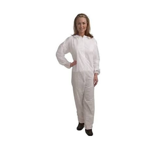 Coverall White W/Elastic Wrists/Ankles 3XL 25/cs