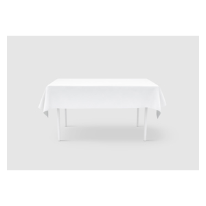 """Plastic Tablecover White Embossed 40""""X300' Roll"""
