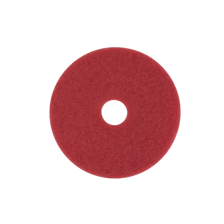 "3M 5100 Floor Pad 16"" Red Buffing 5/cs"