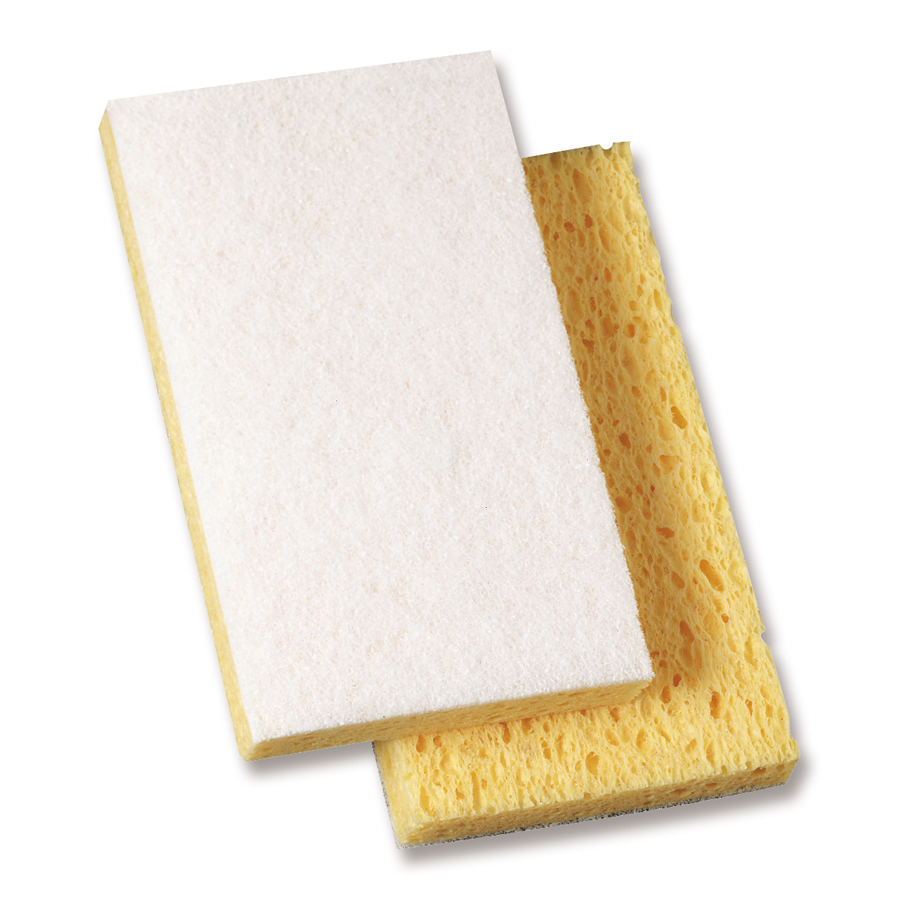 "3M 63 Scotch Brite White Yellow 3.5""X5.5"" 20/cs"