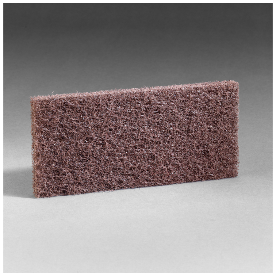 "3M 8541 Doodlebug Brown Scrub Pad 4.6""X10"" 20/cs"