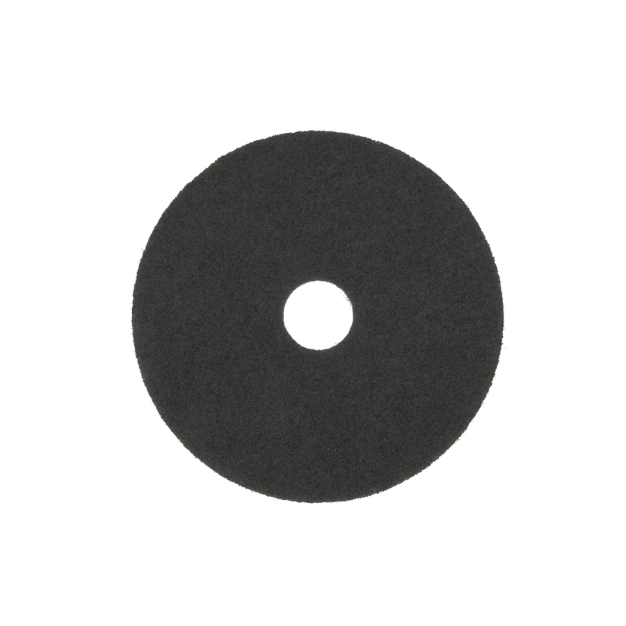 "3M 7200 Floor Pad 17"" Black Stripping 5/cs"