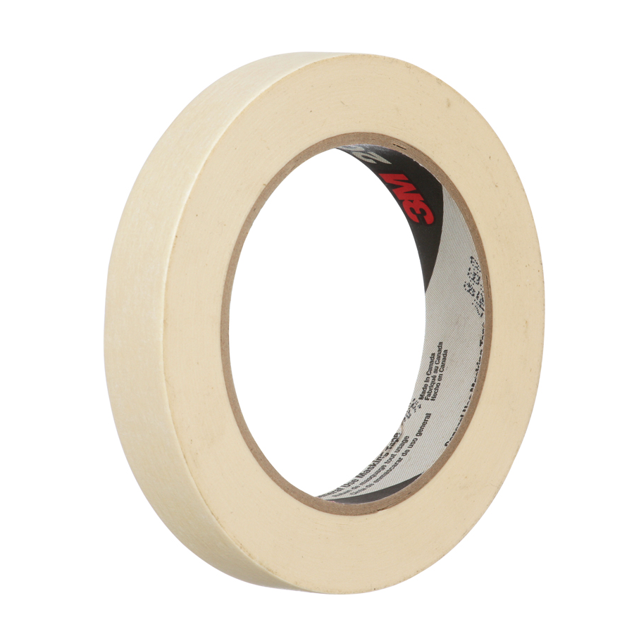 3M 201+ Masking Tape Tan 18Mmx55M 48/cs