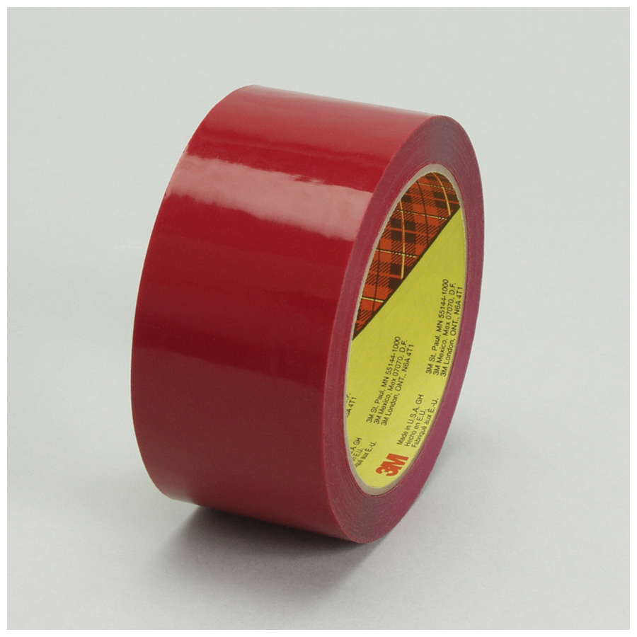 3M 373 Scotch Box Seal  Tape Red 24Mmx50M 36/cs