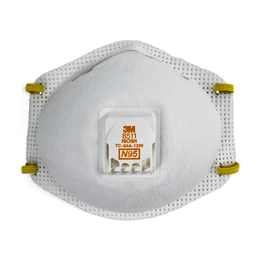 3M 8511 Particulate Mask W/ Valve 80/cs