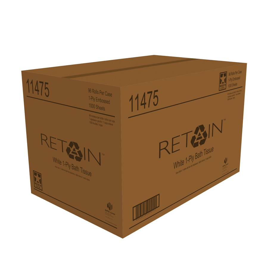 Bath Tissue Retain  1-Ply 1000/rl 96/cs