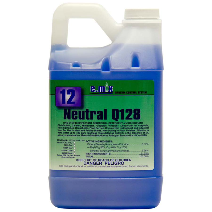 E-Mix #12 Neutral Q-128 Disinfectant 64oz 4/cs