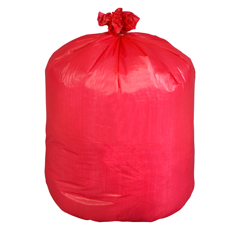 "Canliner 33""X39"" Red Inf Waste 33Gal 1mil 100/cs"