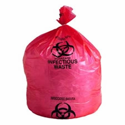 """Canliner 24""""X32"""" Red Inf Waste 10Gal 1mil 500/cs"""