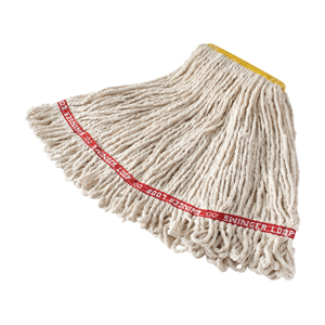 "Swinger Loop Wet Mop  White 16oz 1"" Hb 6/cs"