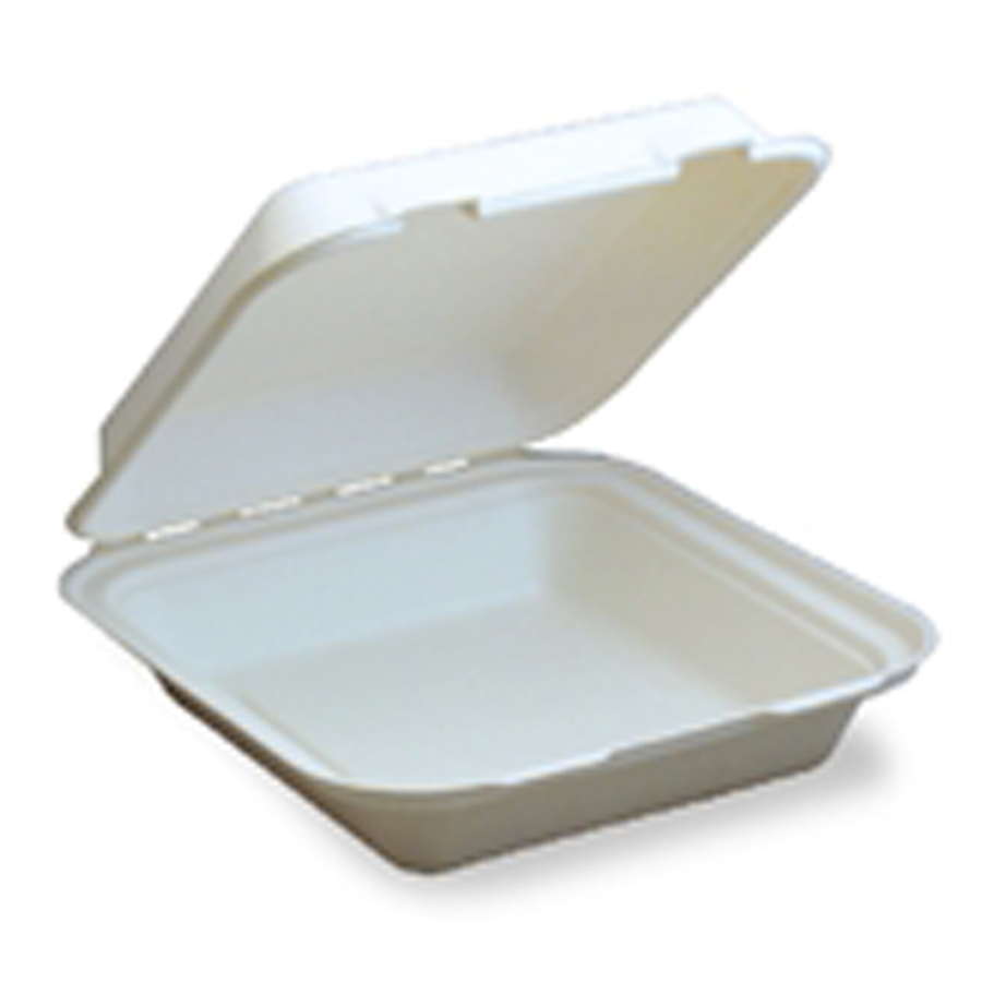 "Bagasse Carryout 1-Sec 8""X8"" 200/cs"
