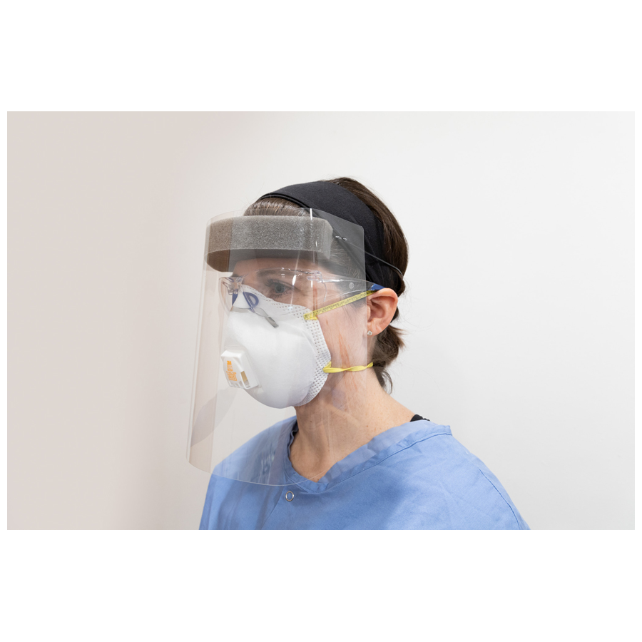 Quick Response Face Shield Disposable 100/cs