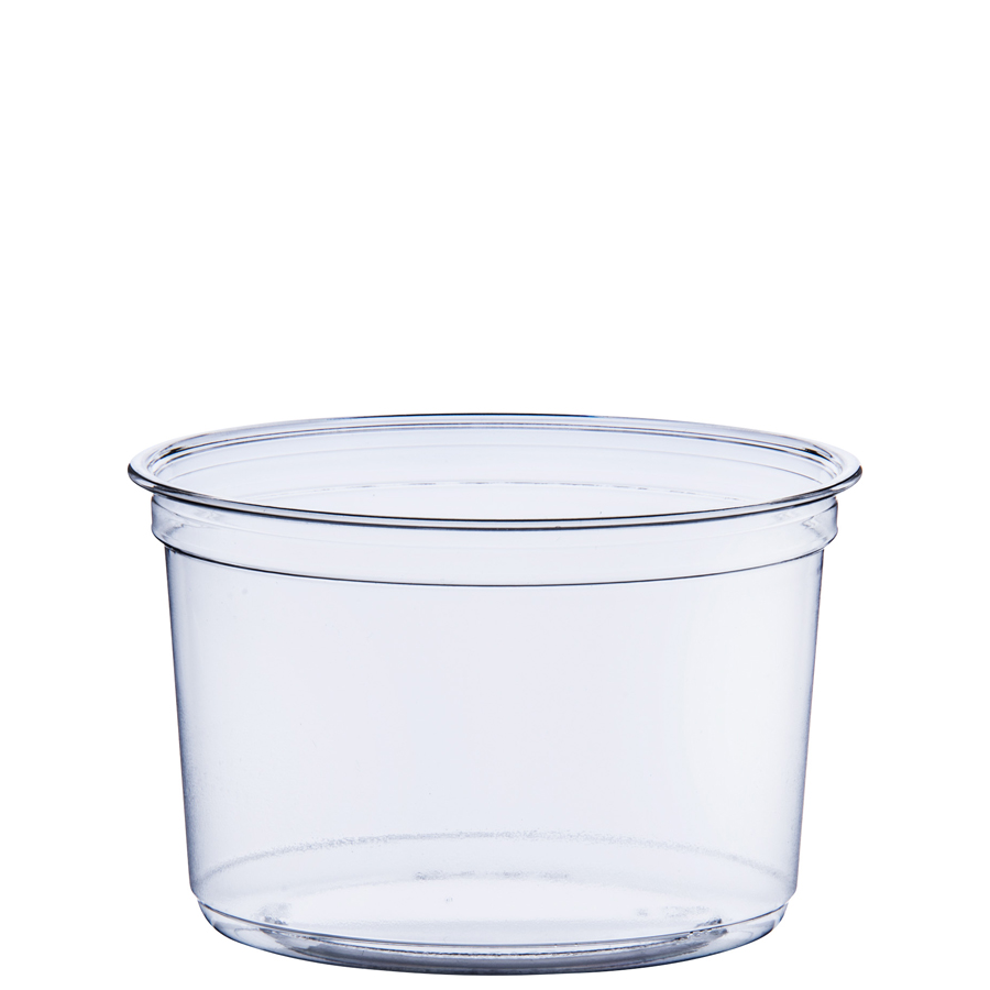 Deli Cup Hi Clarity 16oz Clear 500/cs