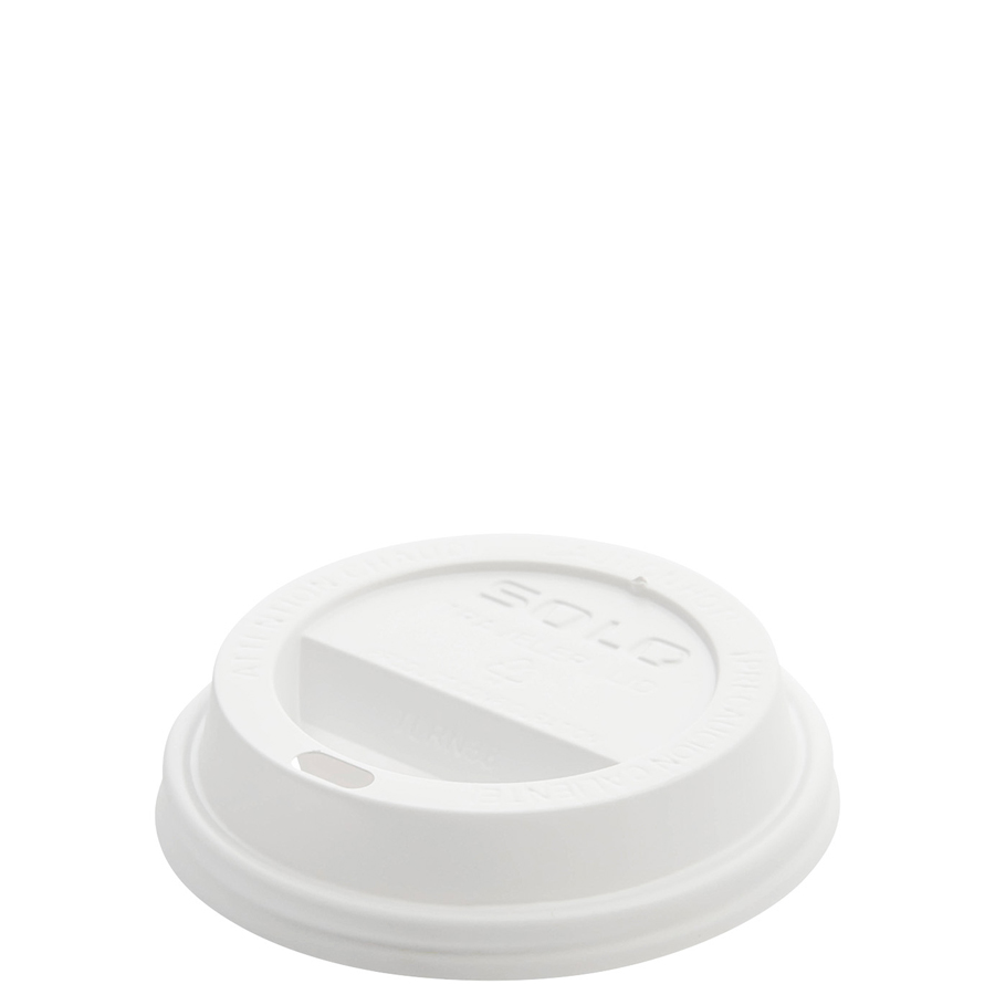 Dome Lid Traveler Style White 1000/cs
