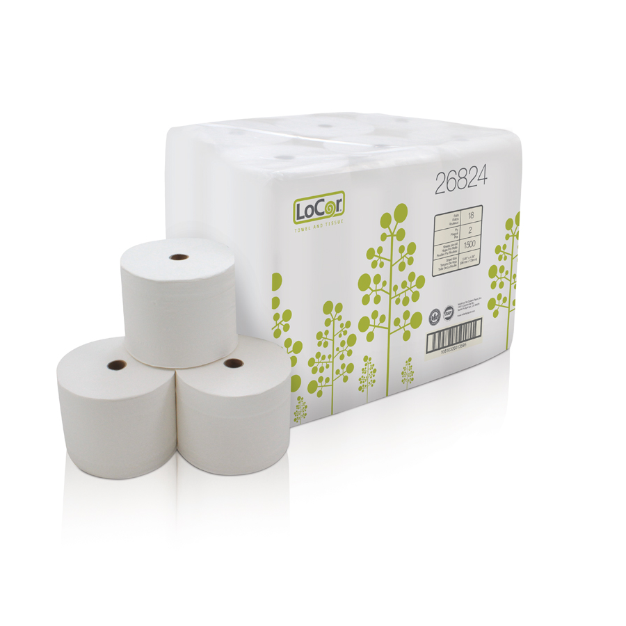 Bath Tissue Locor 2-Ply  1500/rl 18/cs