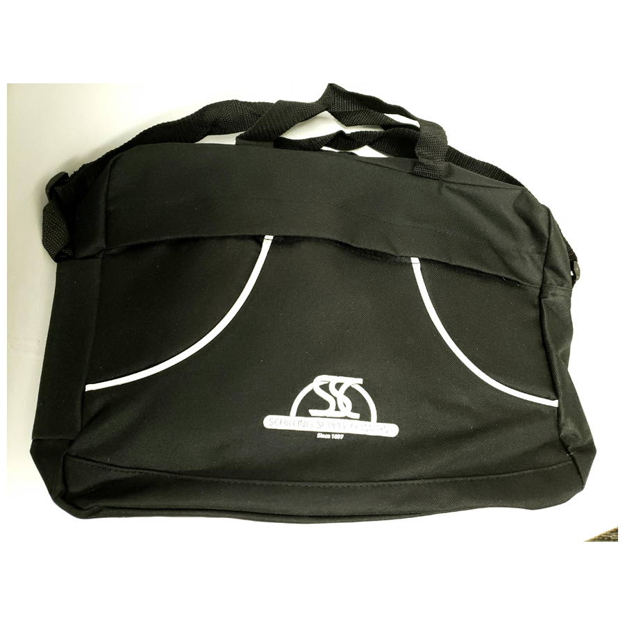 Black Brief Bag W/Logo Each