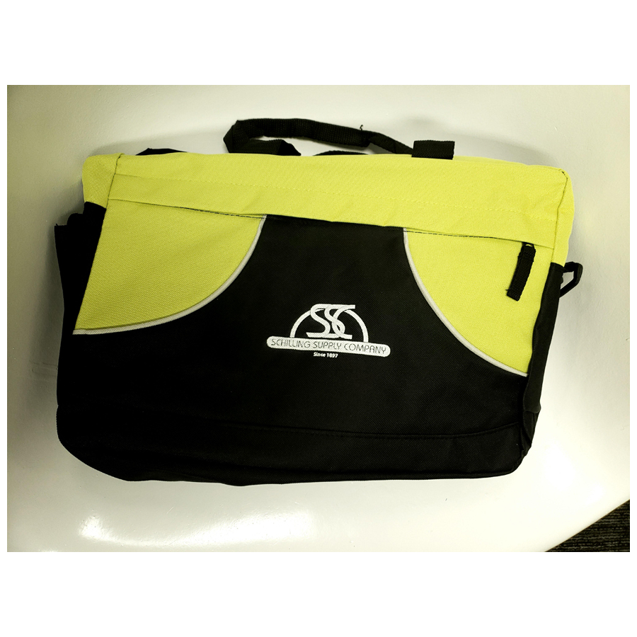 Black/Safety Yellow Brief Bag W/Logo Each
